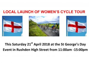 Local launch of Women's Cycle Tour, Saturday 21st April 2018.