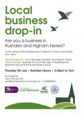 Local Business Drop-in Session. Thursday 5th July 2018