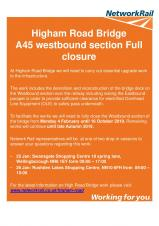 Section of A45 between Rushden and Wellingborough to close for EIGHT MONTHS
