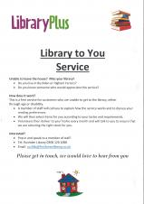 East Northamptonshire Libraries are trying to relaunch a home to you service