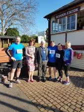 Town Mayor attends successful 5K Community Run.