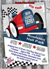 The 2019 Soap Box Derby is coming to Hall Park in Rushden (NN10 9NG) on Sunday 9th June