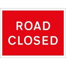 Advanced warning of High Street road closure.