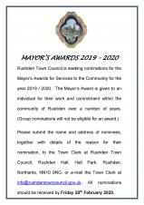 Mayor's Awards for Services to the Community 2019 - 2020