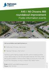 Chowns Mill Roundabout Public Information Event - 5th & 8th February