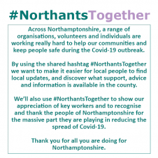 #NorthantsTogether Campaign Launch