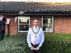 Mayor Supports 'Clap for our Carers' - Victoria House, Rushden