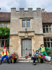 Scarecrows and Flower Pot People pop up over the town