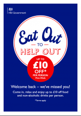 Rushden Eateries join the Eat Out to Help Out Scheme